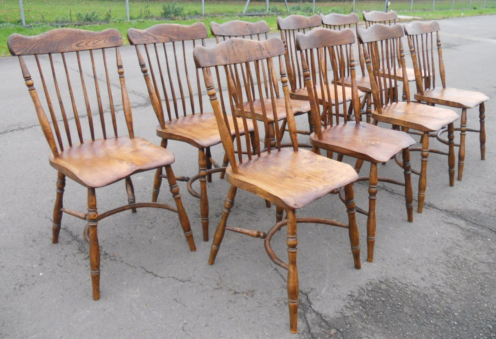Good Windsor Kitchen Chairs #13: SOLD - Set Of Ten Elm U0026amp; Beech Windsor Style Kitchen Chairs ...